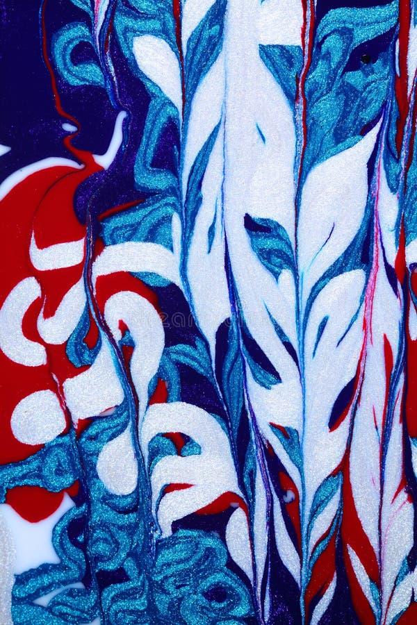 abstrakcjonistyczny błękitny czerwieni biel zdjęcia royalty free