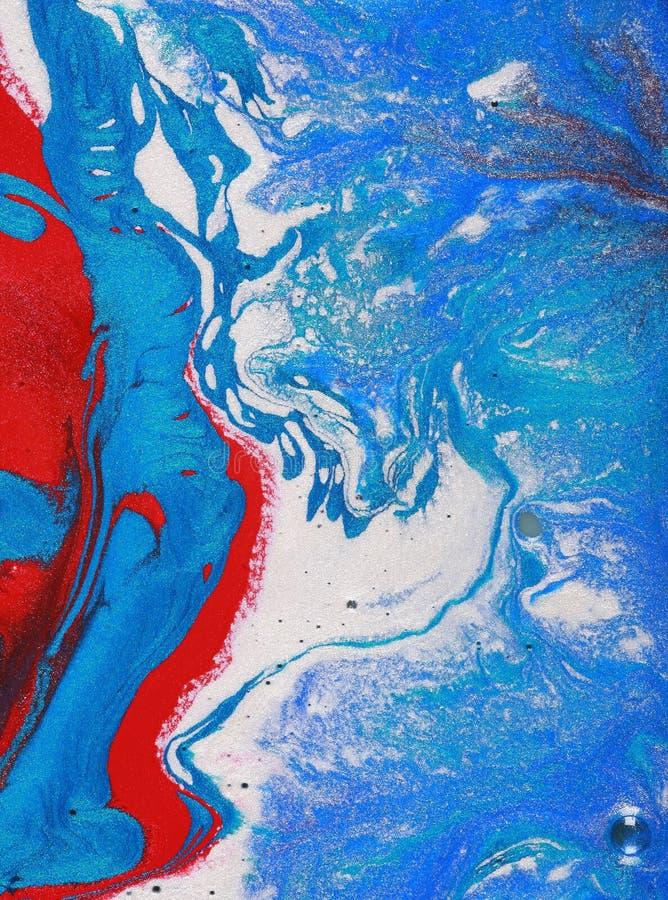 abstrakcjonistyczny błękitny czerwieni biel fotografia royalty free