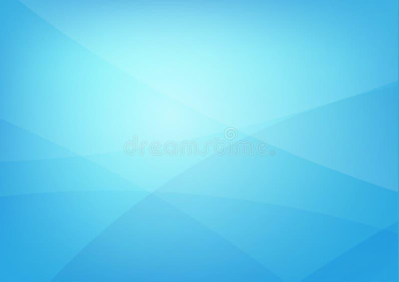 Abstrakcjonistyczny błękitny czysty tło z po prostu koszowymi oświetleniowymi elemen ilustracja wektor