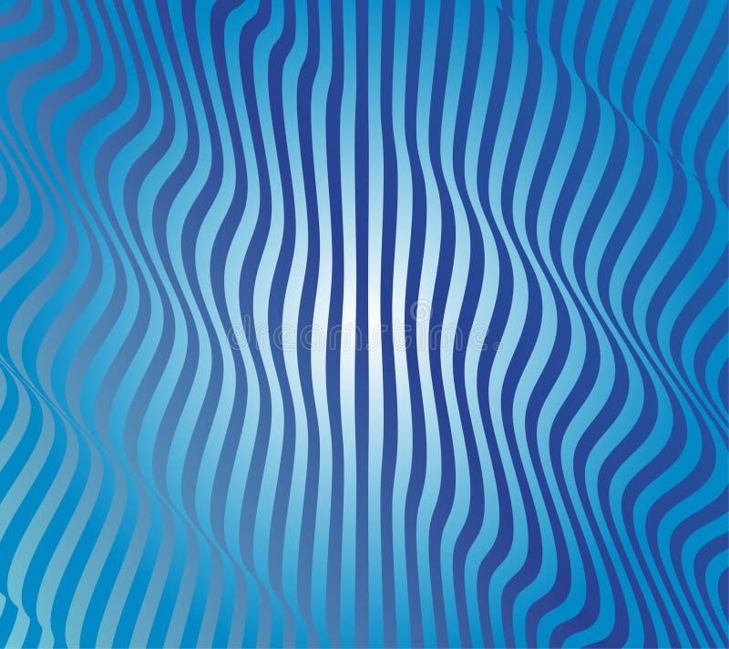 Abstrakcjonistyczny Błękitny Falowy wektor royalty ilustracja