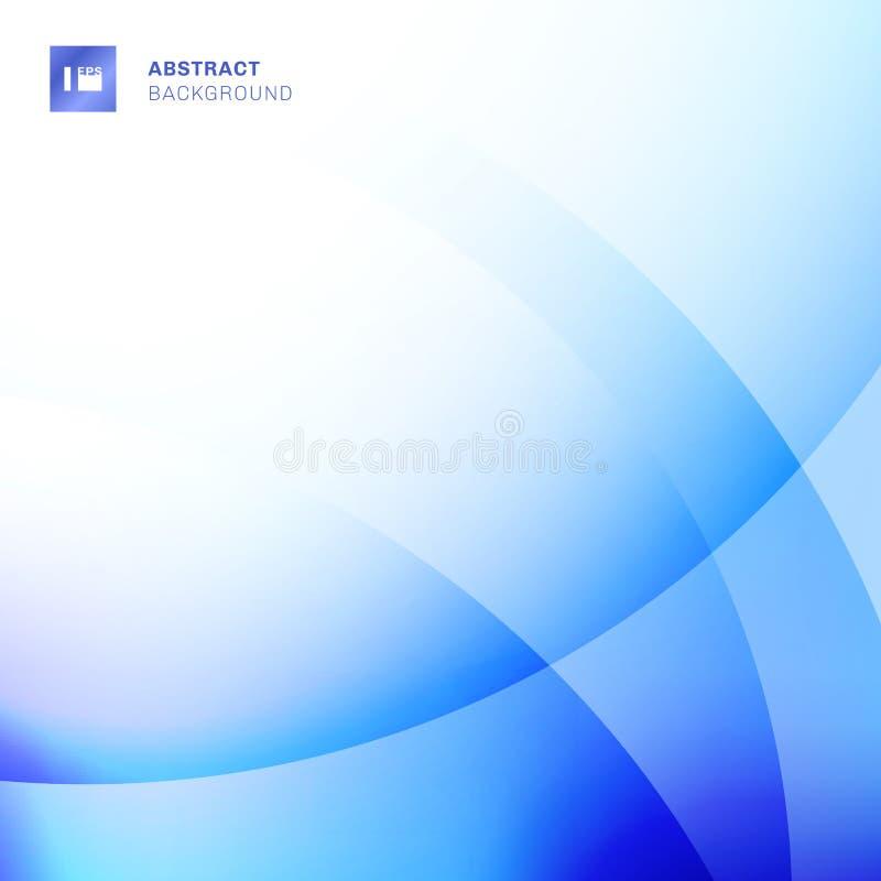 Abstrakcjonistyczny błękitny gradientu kolor pokrywa się okręgu tło Kreatywnie szablon wyginający się kreskowy projekt Ty możesz  ilustracja wektor