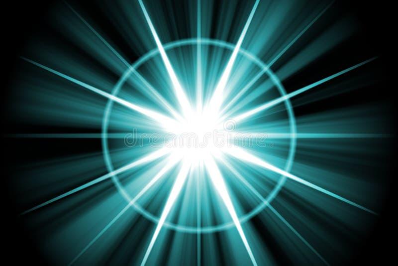 abstrakcjonistyczny błękitny gwiazdy sunburst ilustracji