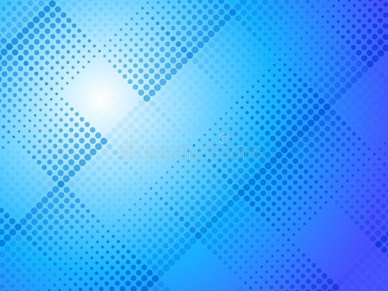 Abstrakcjonistyczny błękitny halftone kropkuje tło royalty ilustracja