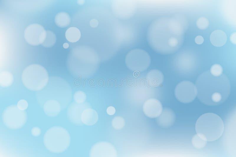 Abstrakcjonistyczny błękitny i biały tło z bokeh skutkiem zdjęcie stock