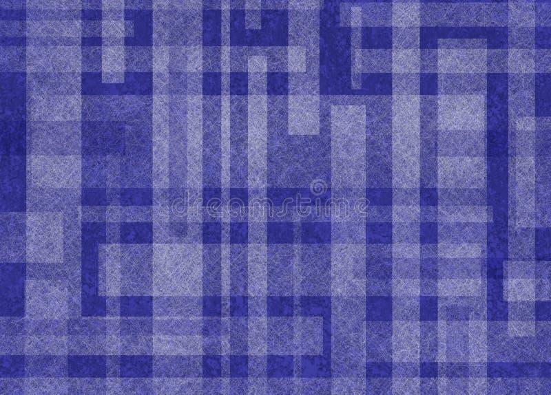 Abstrakcjonistyczny błękitny i biały tło z prostokąta kształta projektem obraz stock