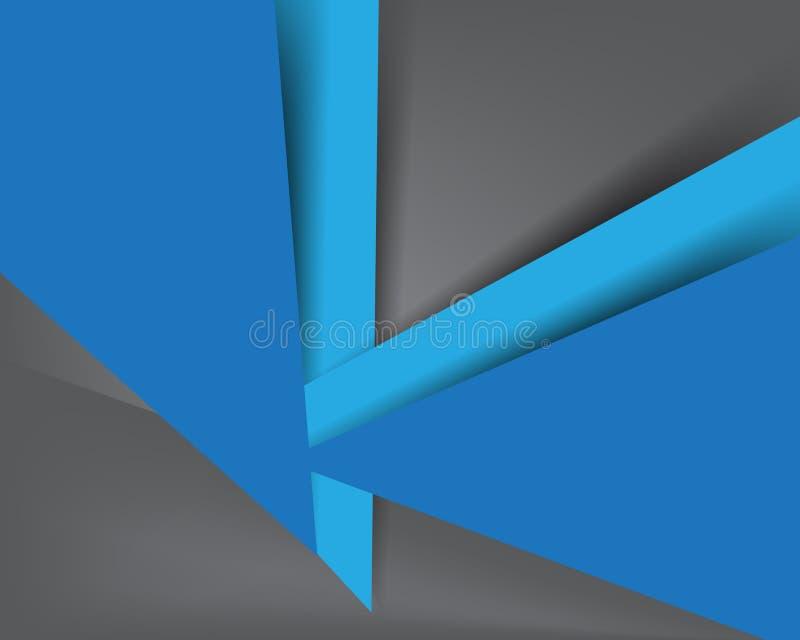 Abstrakcjonistyczny błękitny i szarość koloru tło royalty ilustracja
