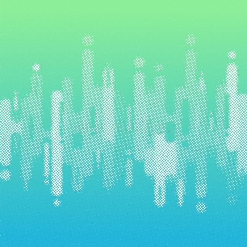 Abstrakcjonistyczny błękitny i zielony gradientowy kolor zaokrąglający kształtuje linii przemiany tło z kopii przestrzenią Elemen royalty ilustracja
