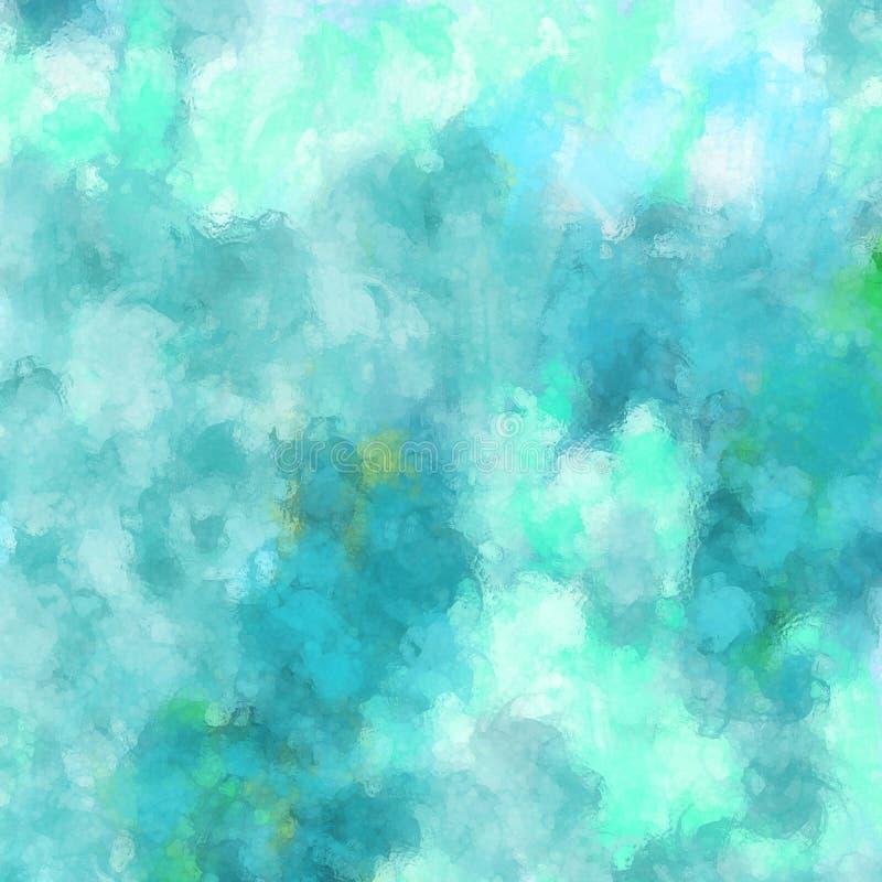 Abstrakcjonistyczny błękitny i zielony spattered farby tła projekt ilustracji