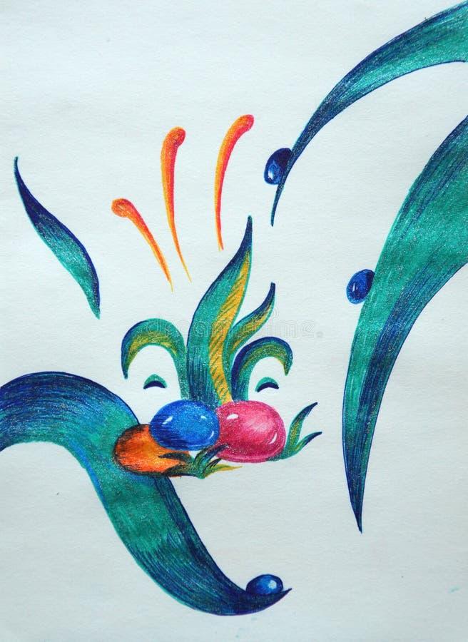 Abstrakcjonistyczny błękitny królik ilustracji