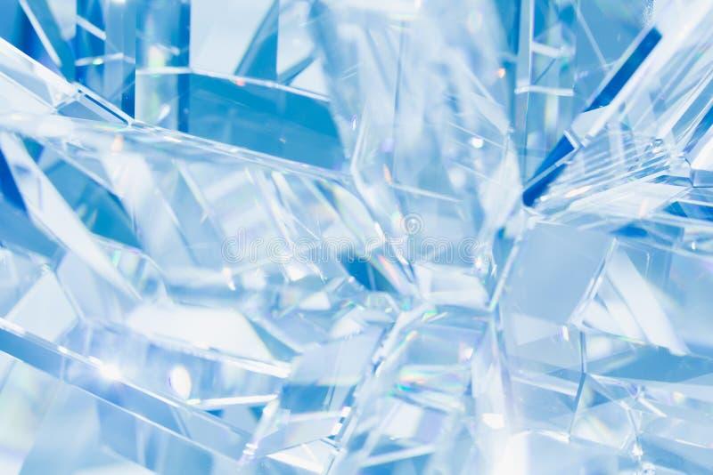 Abstrakcjonistyczny błękitny krystaliczny tło zdjęcia stock