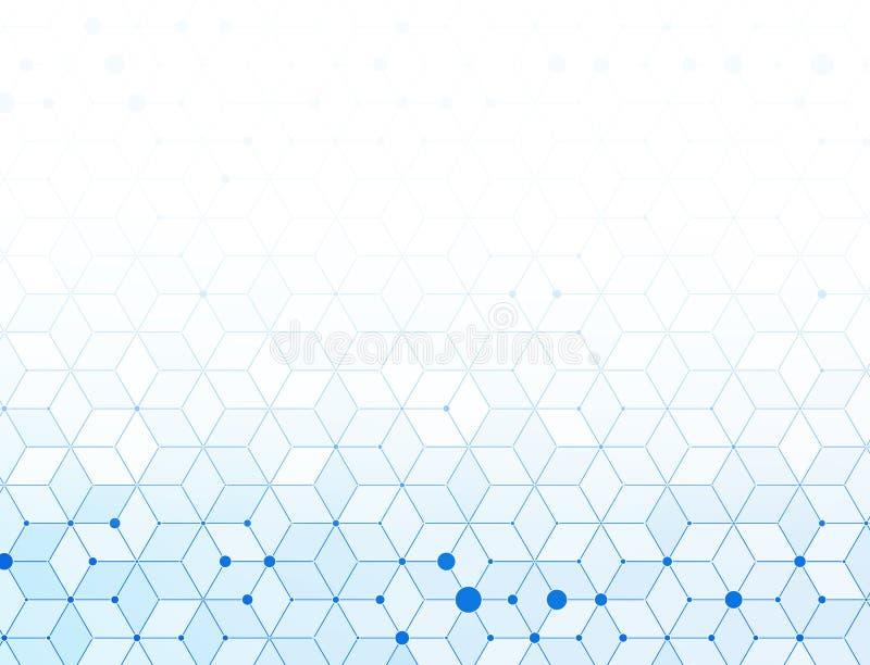 Abstrakcjonistyczny błękitny medyczny tło royalty ilustracja