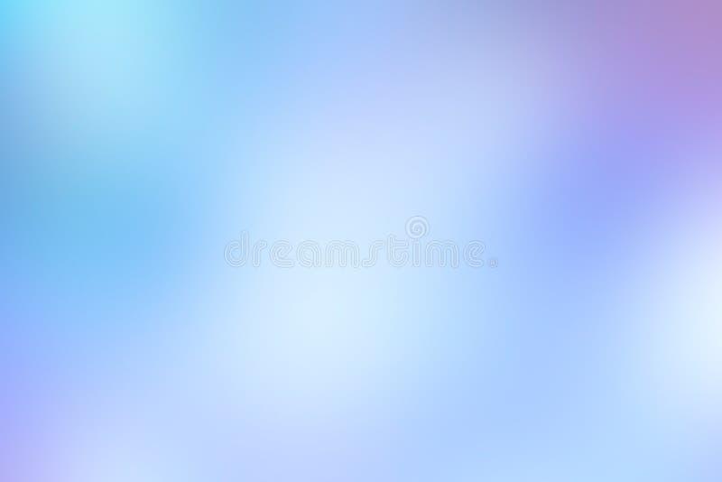 Abstrakcjonistyczny błękitny miękki tło z gradientowymi głównymi atrakcjami