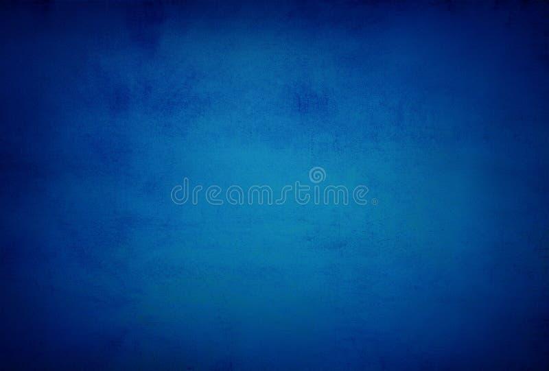 Abstrakcjonistyczny błękitny tła lub zmroku papier z jaskrawym centrum spotli zdjęcie royalty free