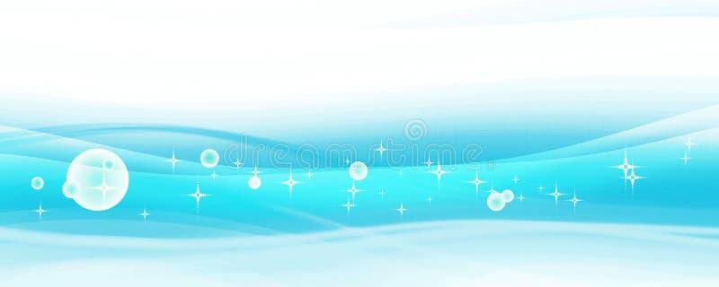 Abstrakcjonistyczny błękitny tło ilustracja wektor