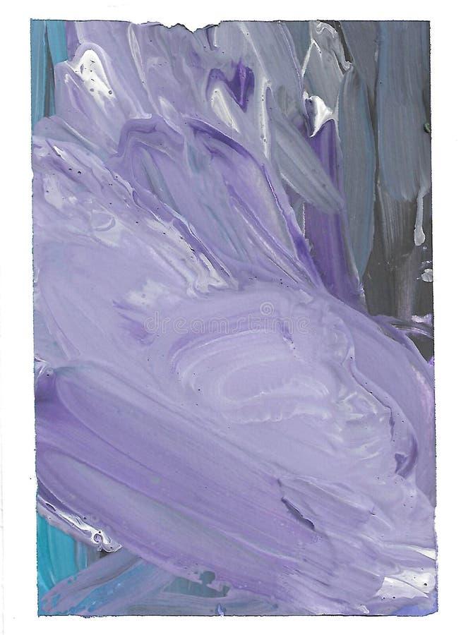 Abstrakcjonistyczny błękitny tło, biel, czarny Rzadkopłynna sztuka Muśnięć uderzenia, przypadkowy wzór, plamy i tekstura, ilustracji