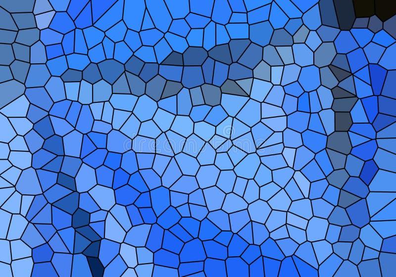 Abstrakcjonistyczny błękitny tło bloku wzór w przekątnie wykłada z rocznika błękita teksturą ilustracji
