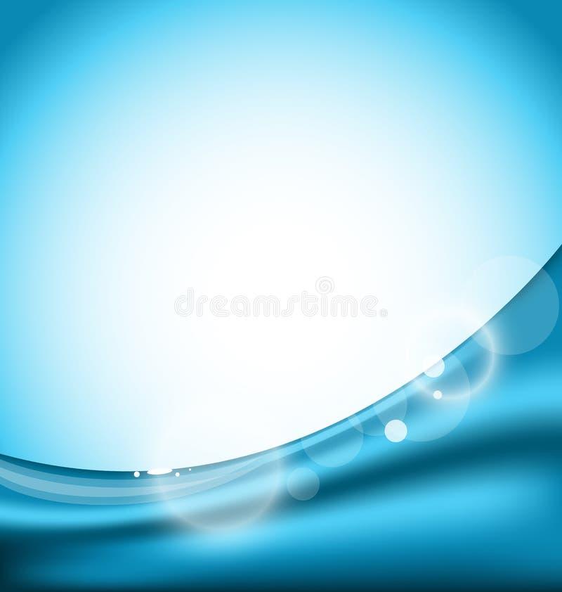 Abstrakcjonistyczny błękitny tło, projekta szablon ilustracji