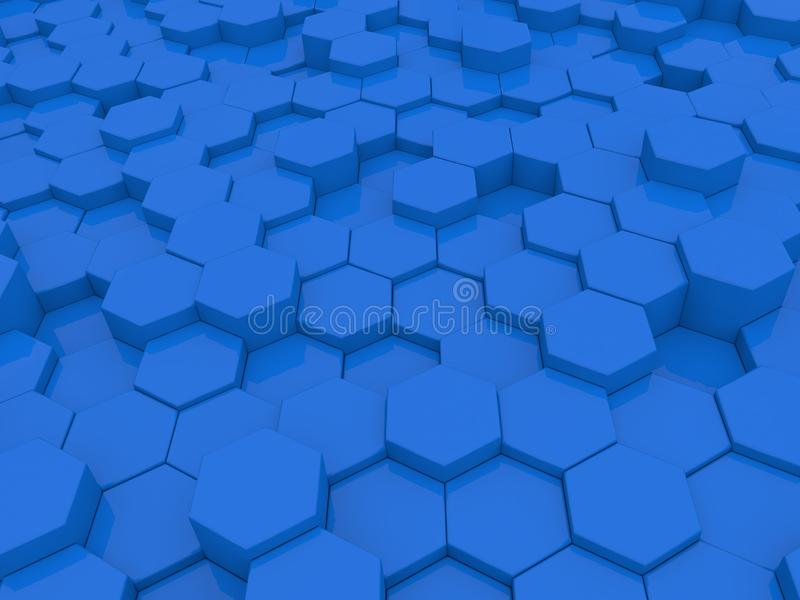 Abstrakcjonistyczny błękitny tło sześciokąty ilustracji