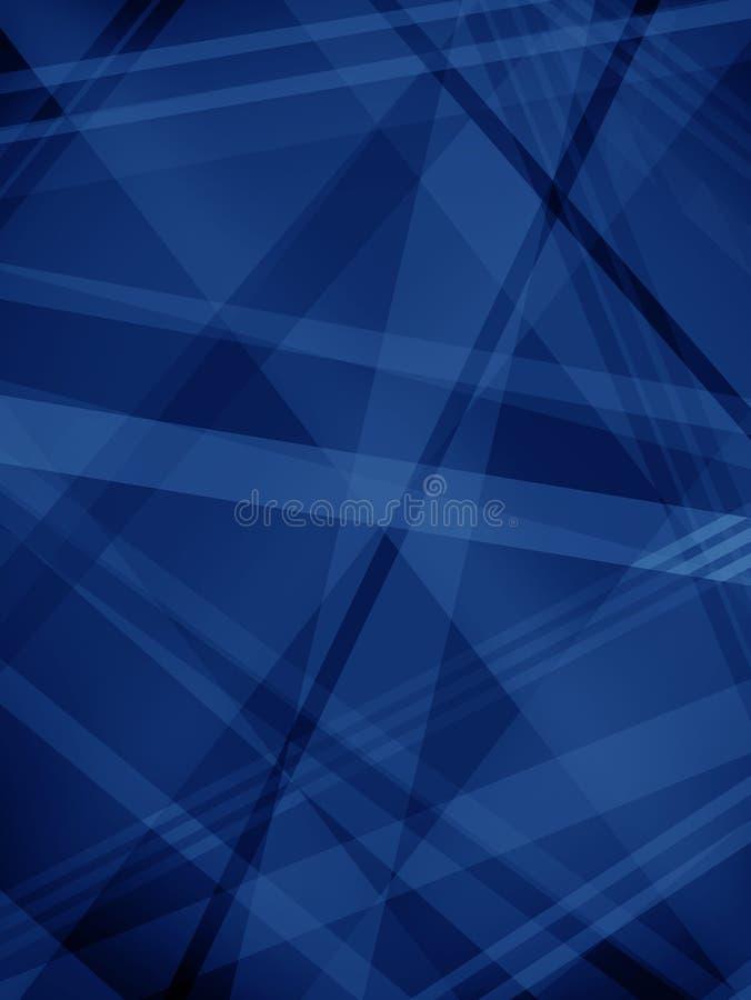 Abstrakcjonistyczny błękitny tło z diagonalnymi lampas warstwami, kształtami w kolorach w abstrakcjonistycznym nowożytnym modnym  royalty ilustracja