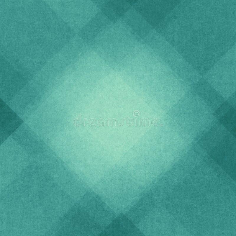 Abstrakcjonistyczny błękitny tło z kątami i trójboka wzorem ilustracji