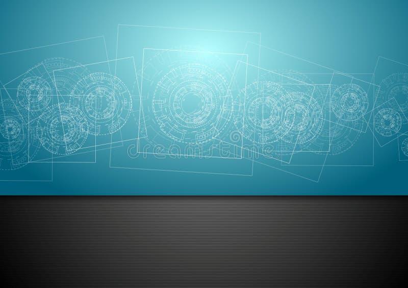 Download Abstrakcjonistyczny Błękitny Techniki Inżynierii Tło Ilustracja Wektor - Ilustracja złożonej z pojęcie, wzór: 53775448