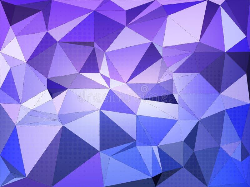 Abstrakcjonistyczny błękitny triangulated tło z kropka wektoru ilustracją ilustracja wektor