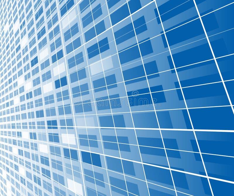 abstrakcjonistyczny błękitny zaawansowany technicznie szablon ilustracja wektor