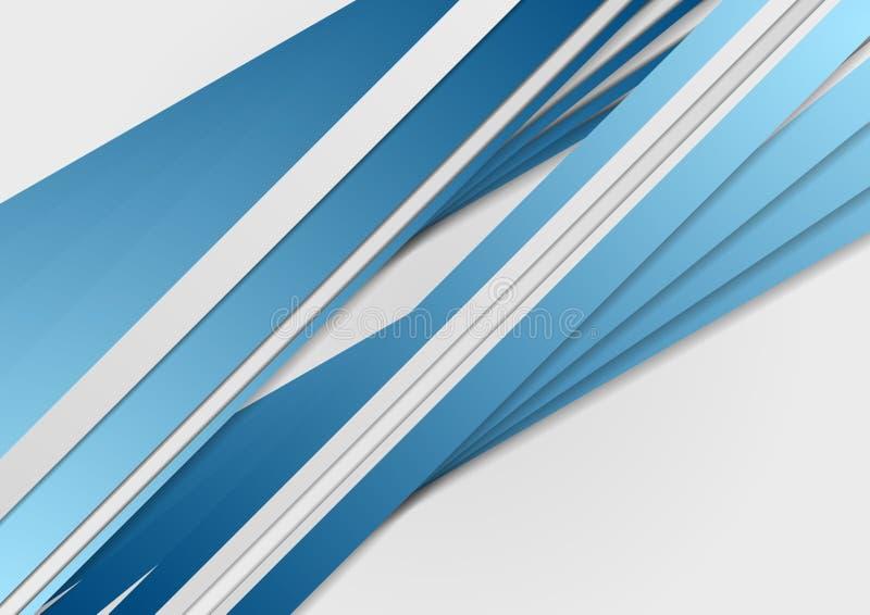 Abstrakcjonistyczny błękitnych lampasów korporacyjny tło ilustracja wektor