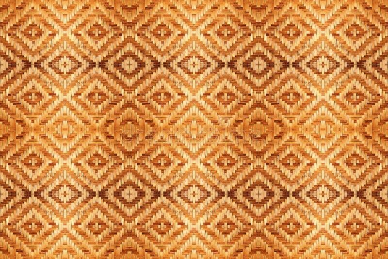 Abstrakcjonistyczny bambus wyplatająca deseniowa tekstura dla tła obrazy stock
