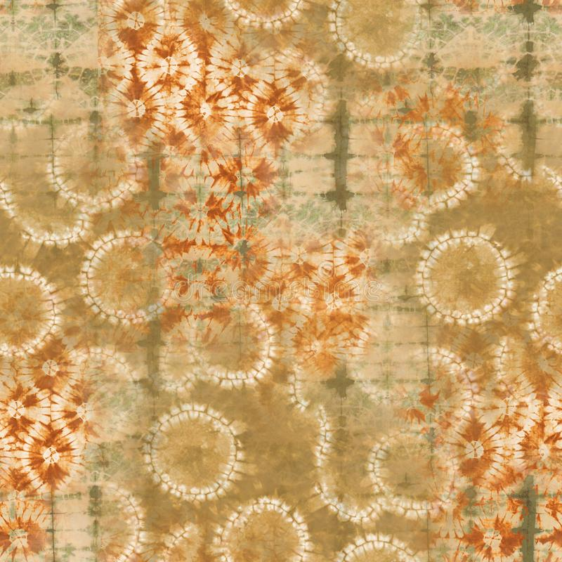 Abstrakcjonistyczny batikowy barwidło tkaniny wzór - ilustracja fotografia stock