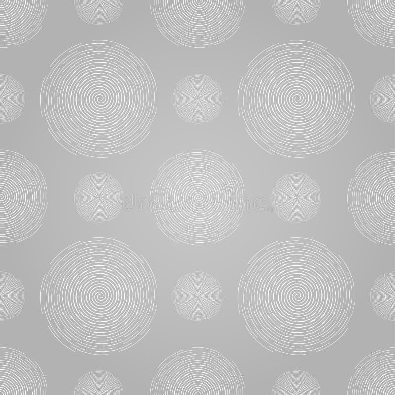 Abstrakcjonistyczny bezszwowy ślimakowaty projekta wzór kurenda ilustracji