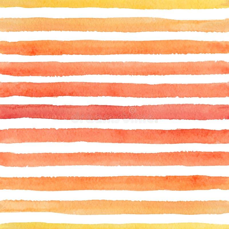 Abstrakcjonistyczny bezszwowy akwarela wzór z kolorowymi uderzeniami na białym tle ilustracja wektor