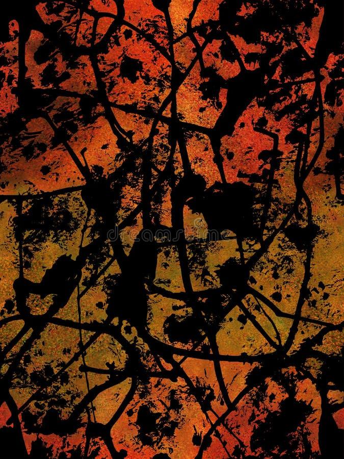 Abstrakcjonistyczny bezszwowy akwareli tło ilustracja wektor