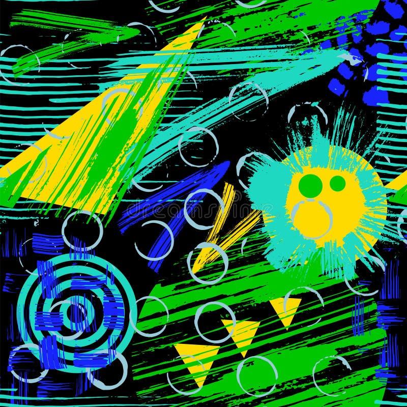 Abstrakcjonistyczny bezszwowy chaotyczny wzór ilustracji