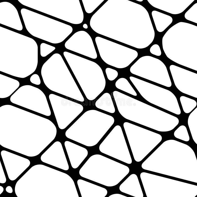 Abstrakcjonistyczny bezszwowy czarny i biały tło z liniami ilustracja wektor