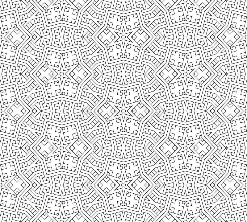 Abstrakcjonistyczny bezszwowy czarny i biały wzór zdjęcie stock