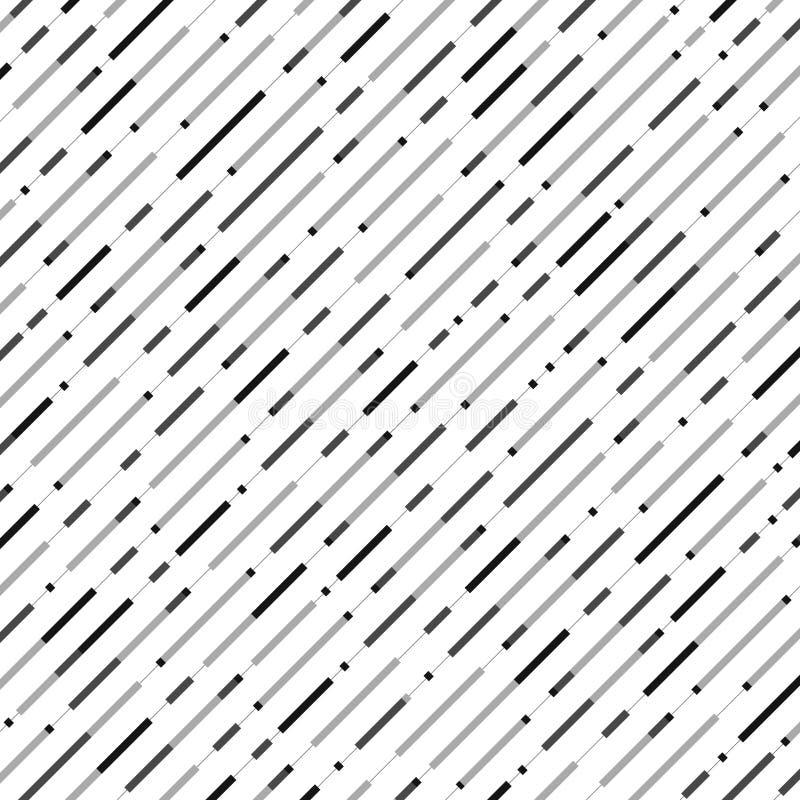 Abstrakcjonistyczny bezszwowy czarny szarość lampasa linii wzoru tło ilustracji