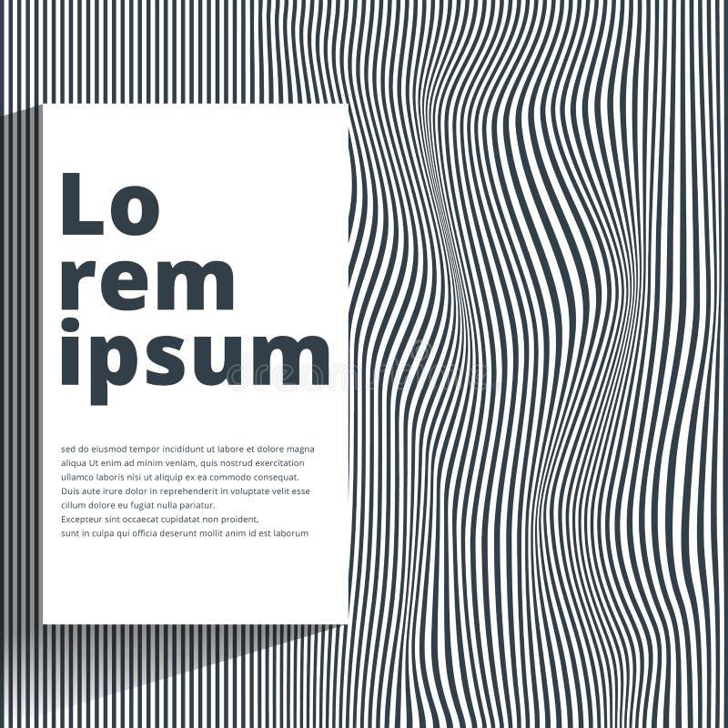 Abstrakcjonistyczny Bezszwowy czochra wzór Wielostrzałowa wektorowa tekstura Falista ilustracja wektor