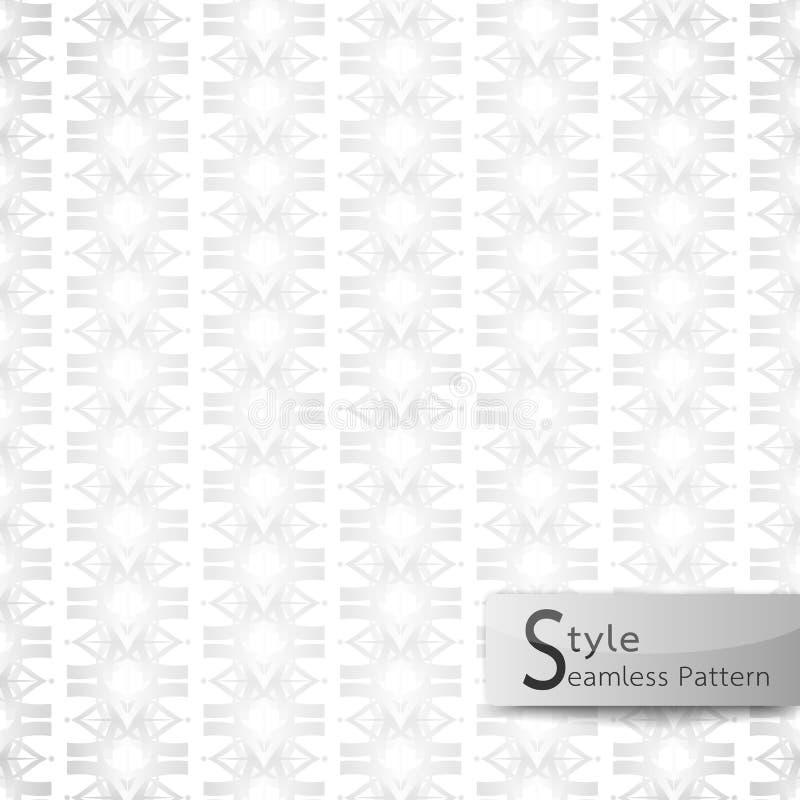 Abstrakcjonistyczny bezszwowy deseniowy kwiecisty rzędu faborek biały tekstury backg ilustracja wektor