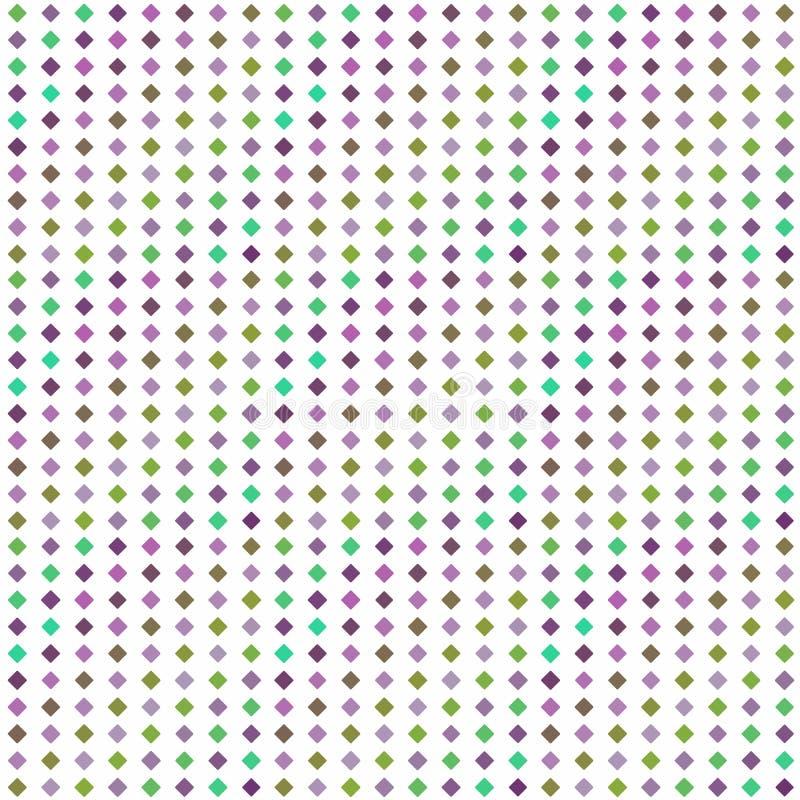 Abstrakcjonistyczny bezszwowy deseniowy tło z stubarwnymi różnorodnymi rhombuses royalty ilustracja