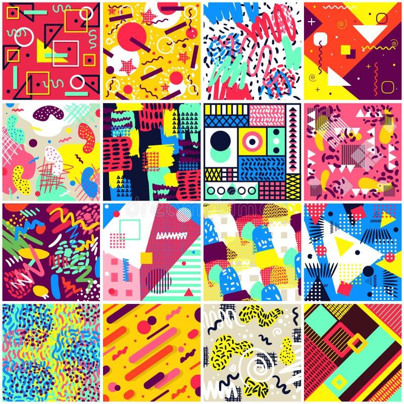Abstrakcjonistyczny bezszwowy deseniowy wektor abstracting geometrycznego tła chaotyczną teksturę abstracted tło ilustracja ilustracji