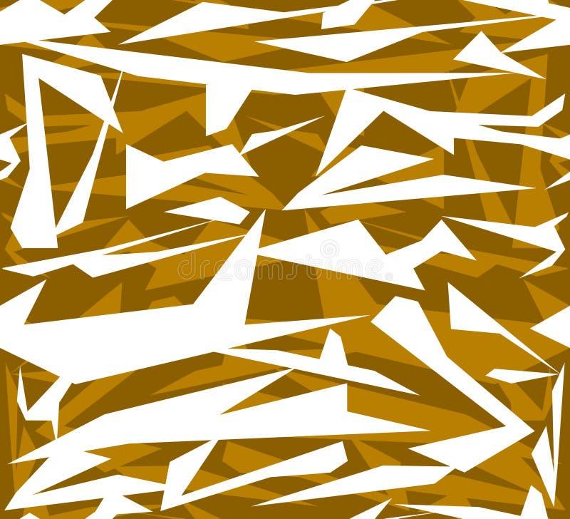 Abstrakcjonistyczny bezszwowy geometryczny wzór chaotyczni poligonalni kształty ilustracji