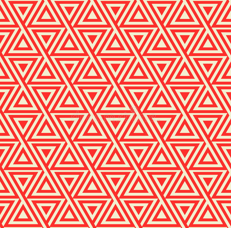 Abstrakcjonistyczny bezszwowy geometryczny wzór z trójbokami ilustracja wektor