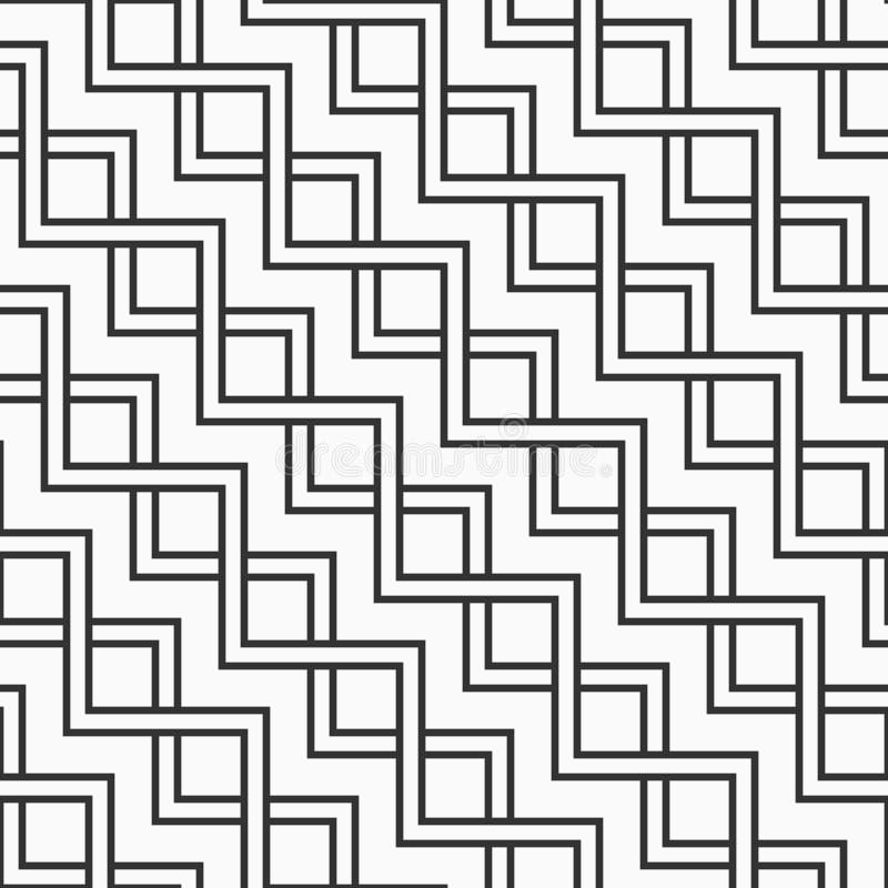 Abstrakcjonistyczny bezszwowy geometryczny wzór zygzakowate równoległe linie ilustracja wektor
