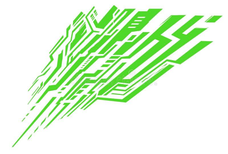 Abstrakcjonistyczny bezszwowy graficzny wektor pokryw wzór z fading liniami, ślada, halftone lampasy r ilustracji