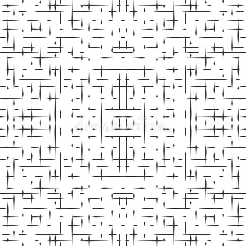 Abstrakcjonistyczny bezszwowy hitech wzór ilustracja wektor
