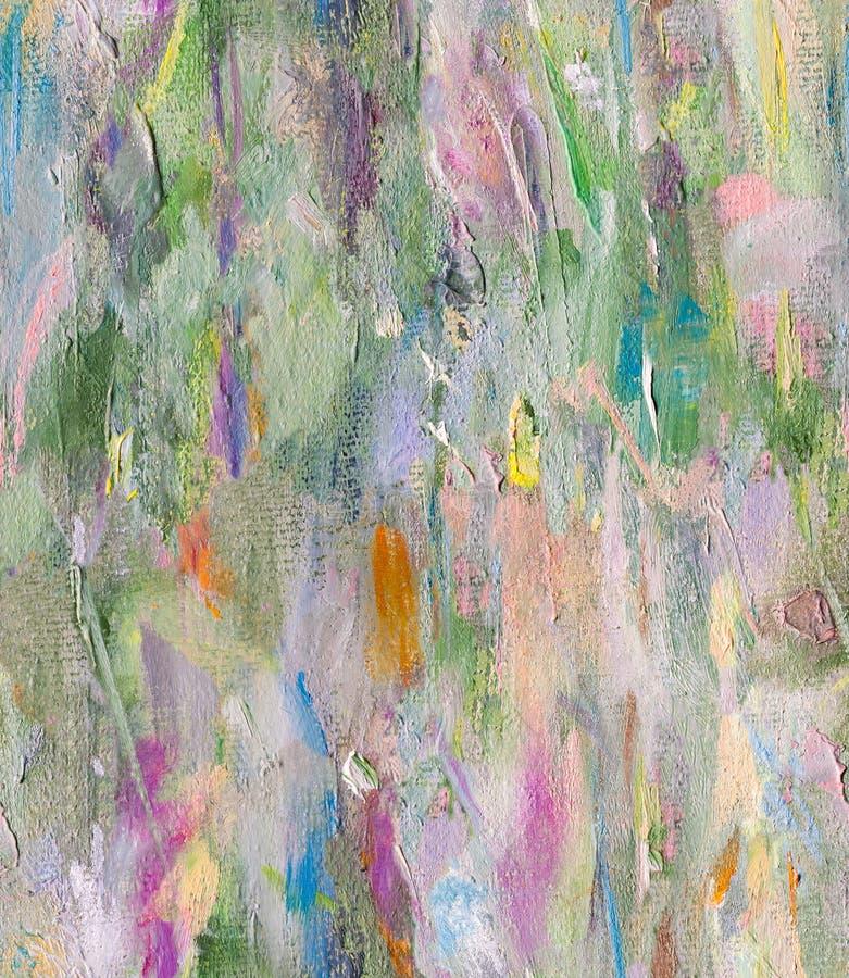 Abstrakcjonistyczny bezszwowy nafcianej farby wzór royalty ilustracja