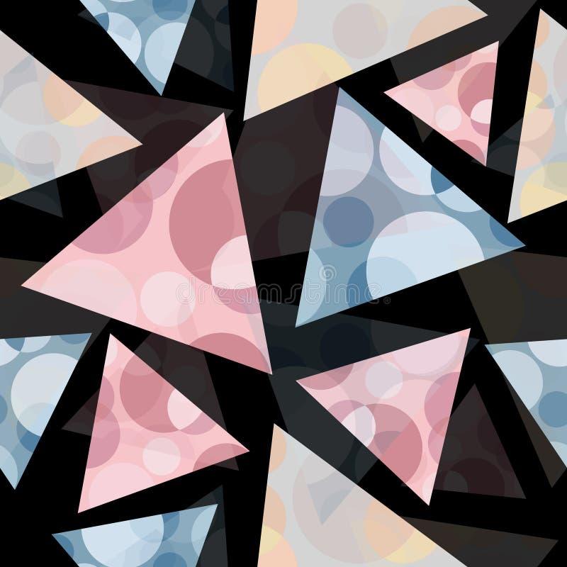 Abstrakcjonistyczny bezszwowy pastelowy geometryczny trójboka wzoru tło obrazy royalty free