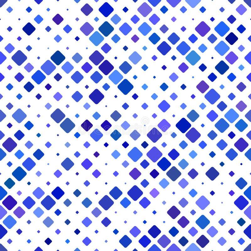 Abstrakcjonistyczny bezszwowy przekątna kwadrata wzór - wektorowa mozaiki płytki tła grafika ilustracji