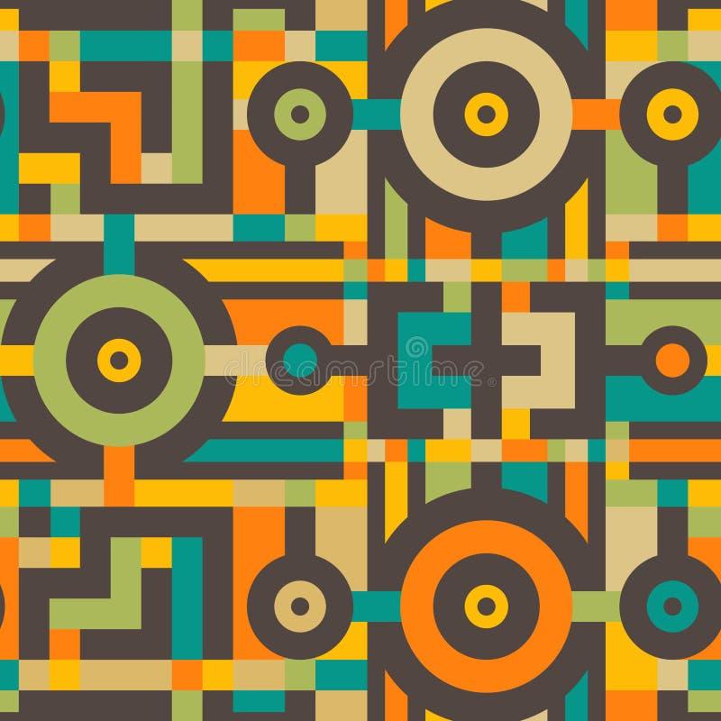 Abstrakcjonistyczny Bezszwowy sztuka współczesna wzór dla Tekstylnego projekta ilustracja wektor